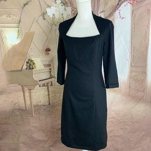 SOLD Piazza Sempione Black Tubino Sheath Dress